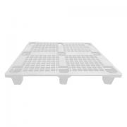 Pallet de Plástico Superfície Vazada 1000 x 1200 x 150mm Branco