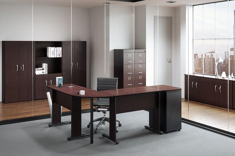 Armário Alto Misto Semi Aberto para escritório 02 Portas