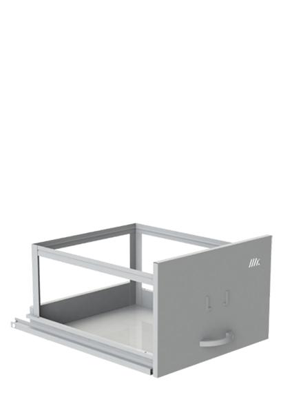 Arquivo De Aço Curto 4 Gavetas Amapa - 133x46x57 cm