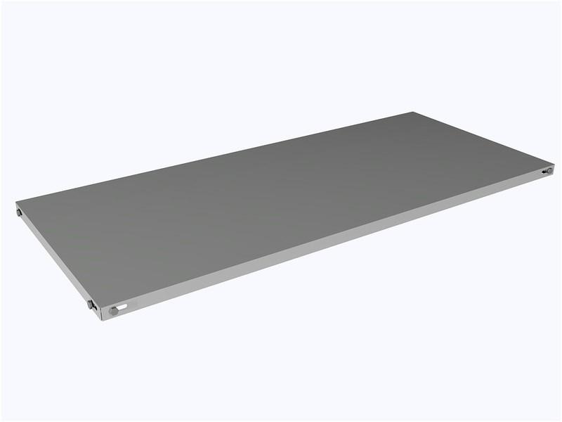 Bandeja de Aço para estante 30 cm - Chapa 22 - Caixa com 6 unidades