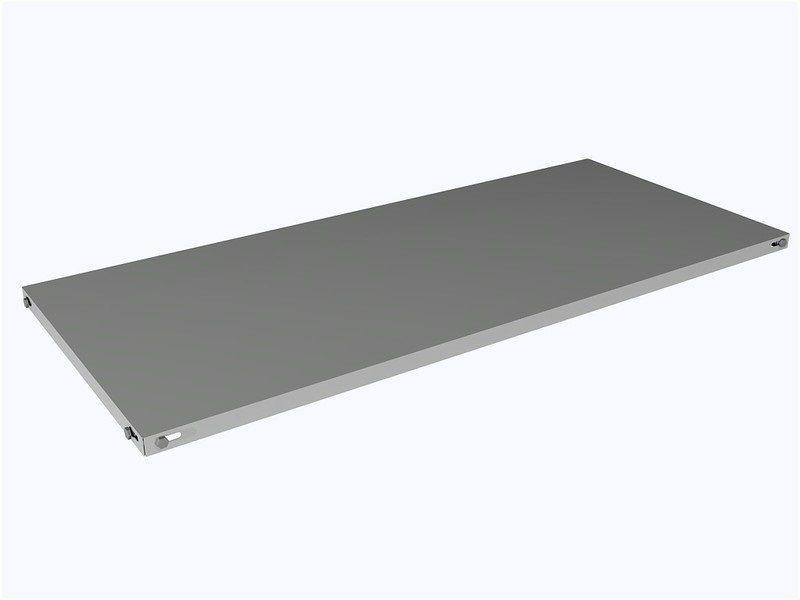 Bandeja de Aço para estante 60 cm - chapa 22 - Caixa com 5 unidades
