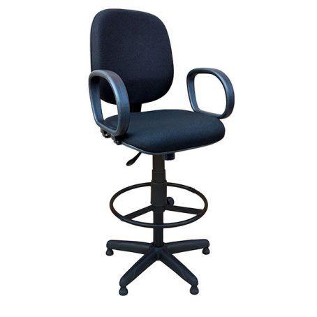 Cadeira Caixa Diretor Alta Giratória e regulável com Braços e apoio para pés