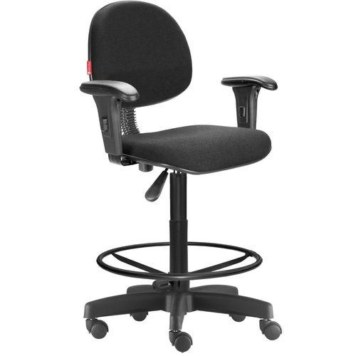 Cadeira Caixa Executiva  Alta Giratória com rodizio regulável Braços e apoio para pés