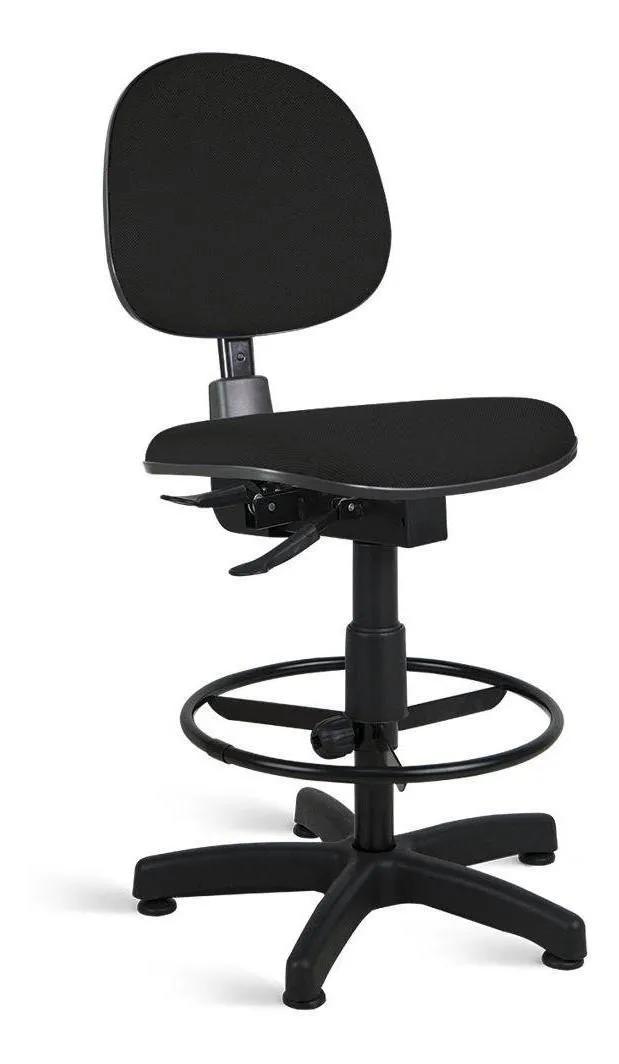 Cadeira Caixa Executiva  Alta Giratória fixa Back System regulável sem Braços e apoio para pés