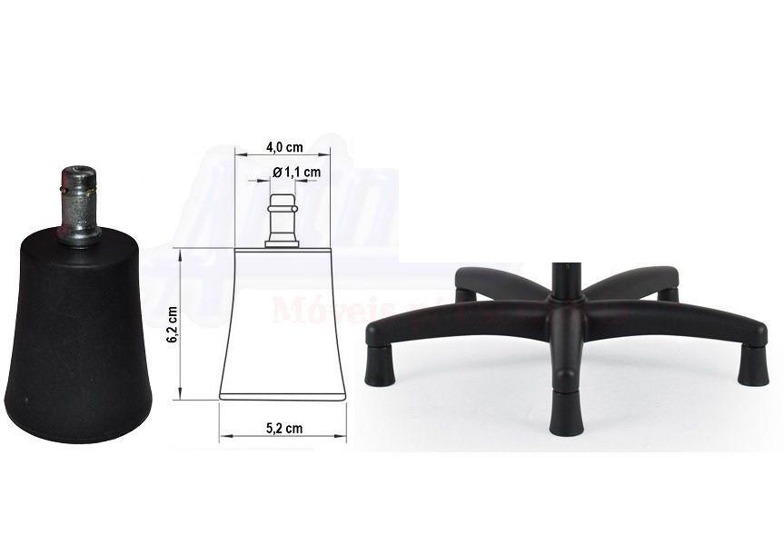 Cadeira Caixa Executiva  Alta Giratória fixa regulável com apoio para pés