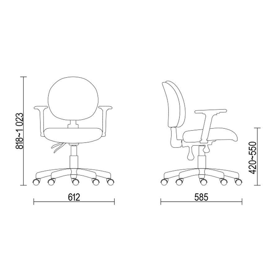 Cadeira Executiva 323 Frisokar regulável com braços e certificado nr 17 Preta