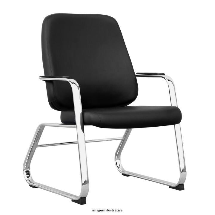 Cadeira Maxxer fixa para alta carga Cromada