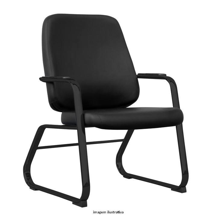 Cadeira Maxxer fixa para alta carga preta