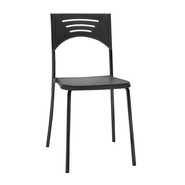 Cadeira Plástica Bliss Preta