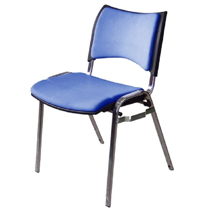 Cadeira Plástica Empilhável Iso com conexão para auditório Frisokar