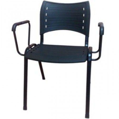 Cadeira plastica empilhável  Iso  Frisokar com Braços