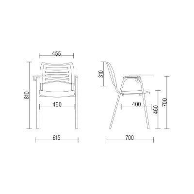 Cadeira plastica Universitária ISO  Frisokar