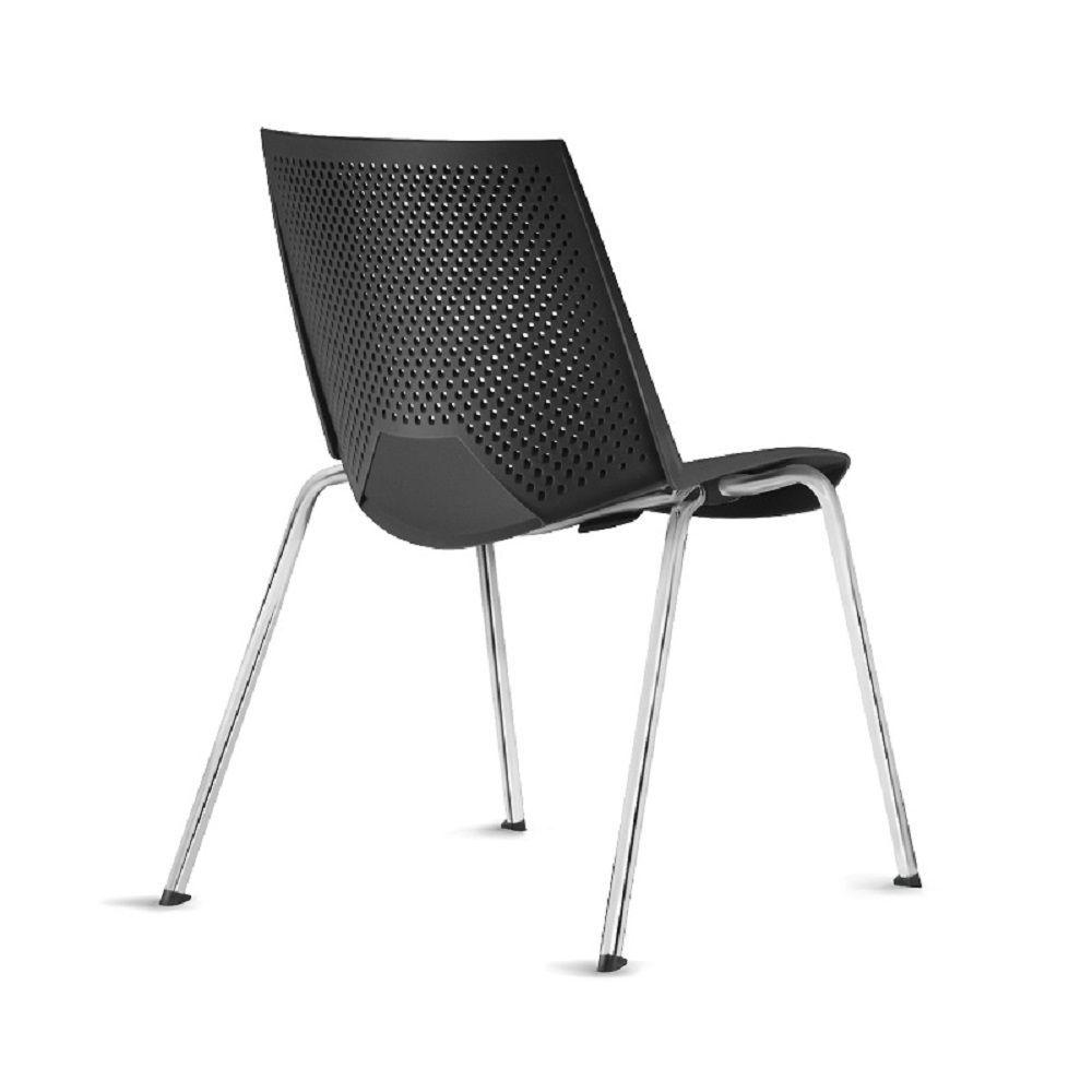 Cadeira Strike Polipropileno Base Fixa 4 Pés