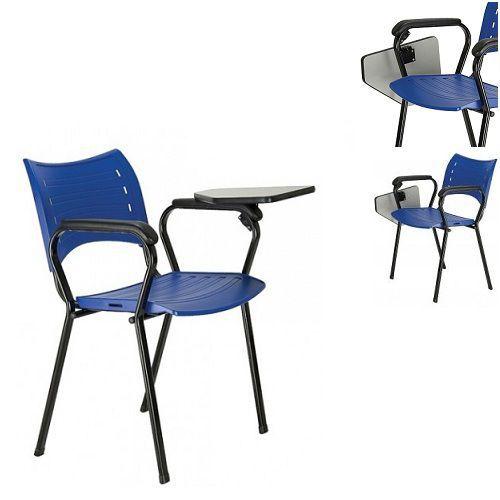 Cadeira Universitária ISO polipropileno com prancheta escamoteavel Frisokar