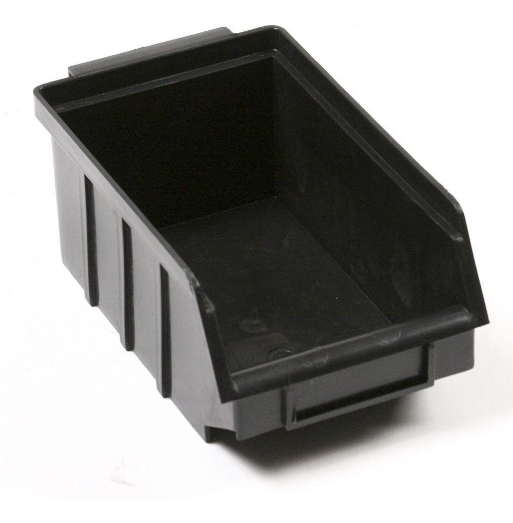 Caixa Organizadora Gaveteiro Plástico Bin nº 3 Pacote 72 unidades Preta