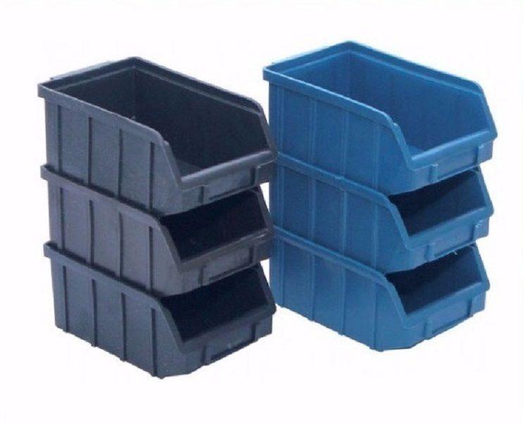Caixa Organizadora Gaveteiro Plástico Bin nº 6 Pacote 36 unidades Preta
