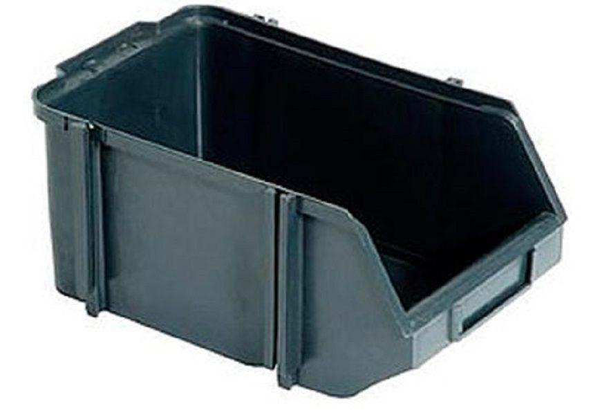 Caixa Organizadora Gaveteiro Plástico Bin nº 9 Pacote 4 unidades Preta