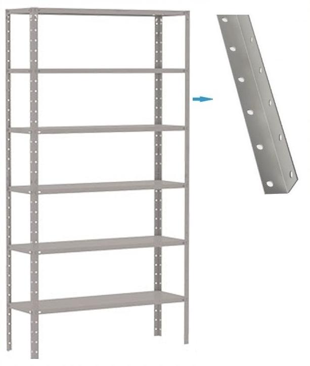 Coluna para estante com furação redonda Chapa #16 e #14