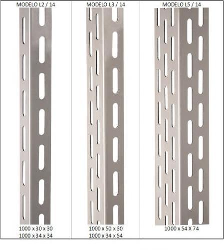 Coluna Para Estante Industrial L3 - 3 Mt - Ch 14