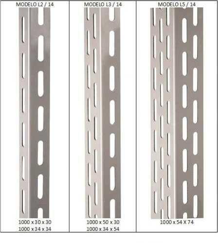 Coluna Para Estante Industrial L5  2 Mt - Ch14