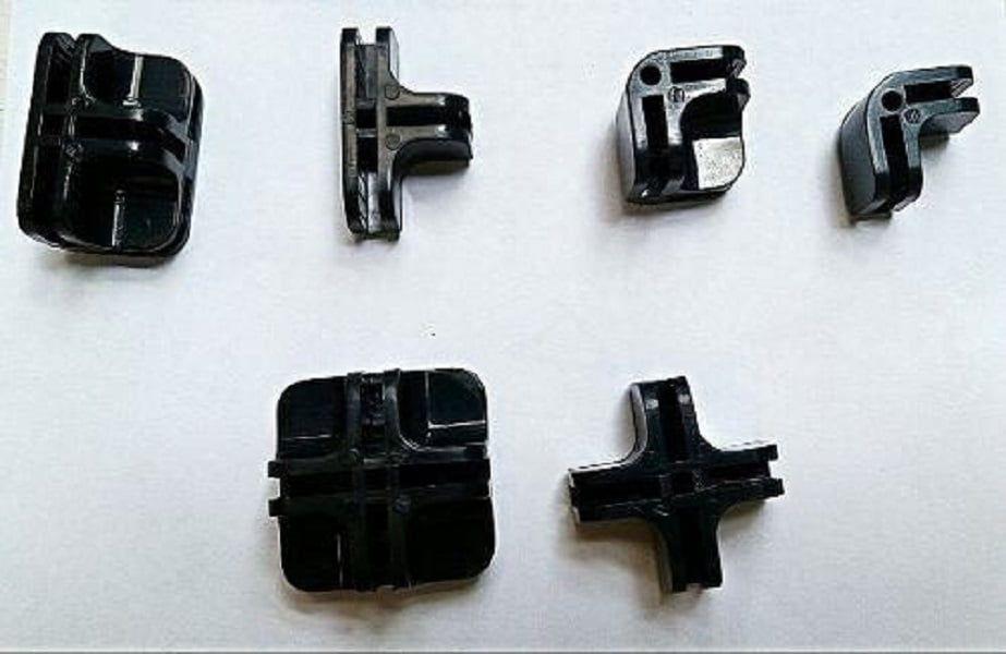 Conectivos para balcões aramados e vidros preto, pacote com