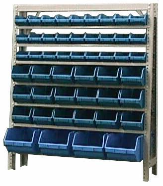 Estante caixa box organizadora Mista para gavetas bin nº 3, 5 e 7 com 49 Gavetas