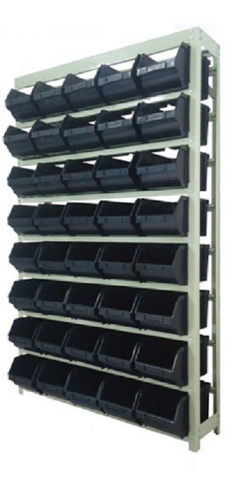 Estante caixa box organizadora para gavetas bin nº 6 com 40 Gavetas