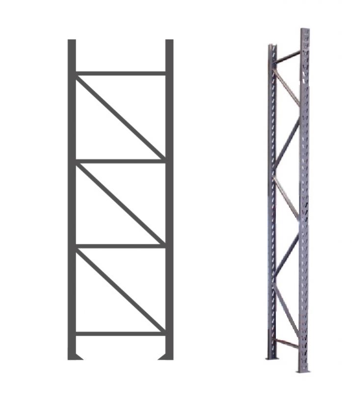 Lateral para Porta Pallet - 2000 mm x 1000 mm