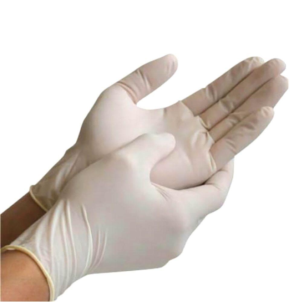 Luva de Procedimento Não Cirúrgico Latex - Caixa com 100 Unid - Supermax - Tam P