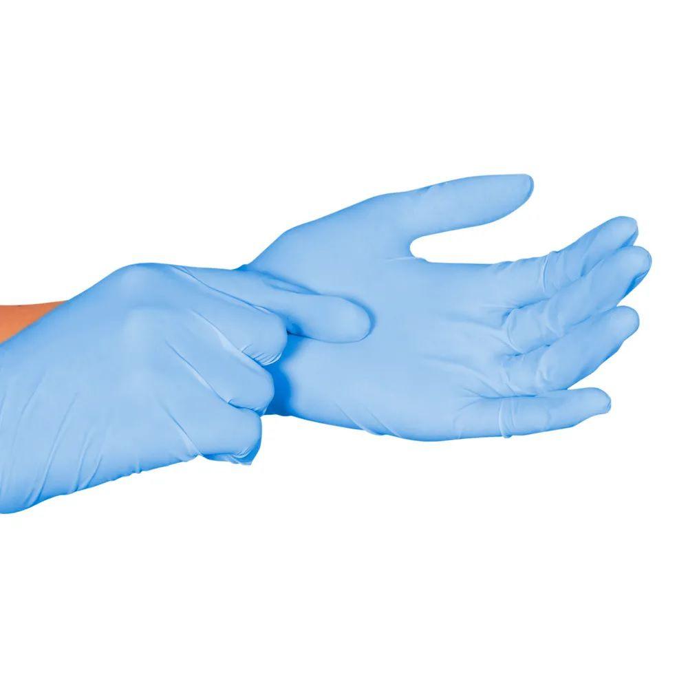 Luva para procedimento não cirúrgico sem pó  Borracha Sintética Supermax Powder Free Nitrilo Blue