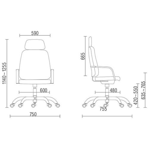 Maxxer Poltrona giratória com apoio de cabeça