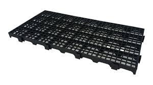 Pallet/Estrado/Piso Modular PP Preto - 25x50x2,5 Pacote com 10
