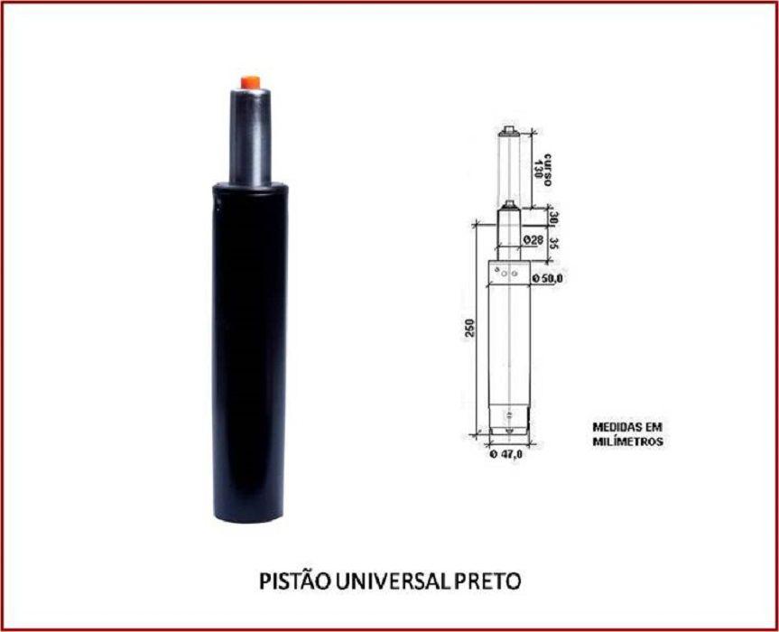 Pistão à Gás Universal Para Cadeira De Escritório  Preto  Frisokar