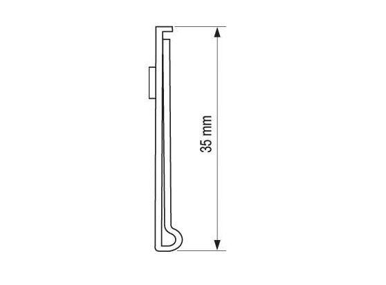 Porta Etiqueta Com Visor Dupla Face Pvc 35mm - 100 cm pacote Com 5