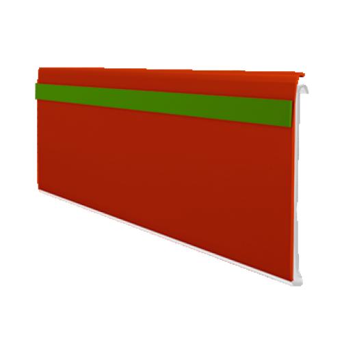 Porta Etiqueta Com Visor Dupla Face Pvc 35mm x 240 cm pacote Com 50