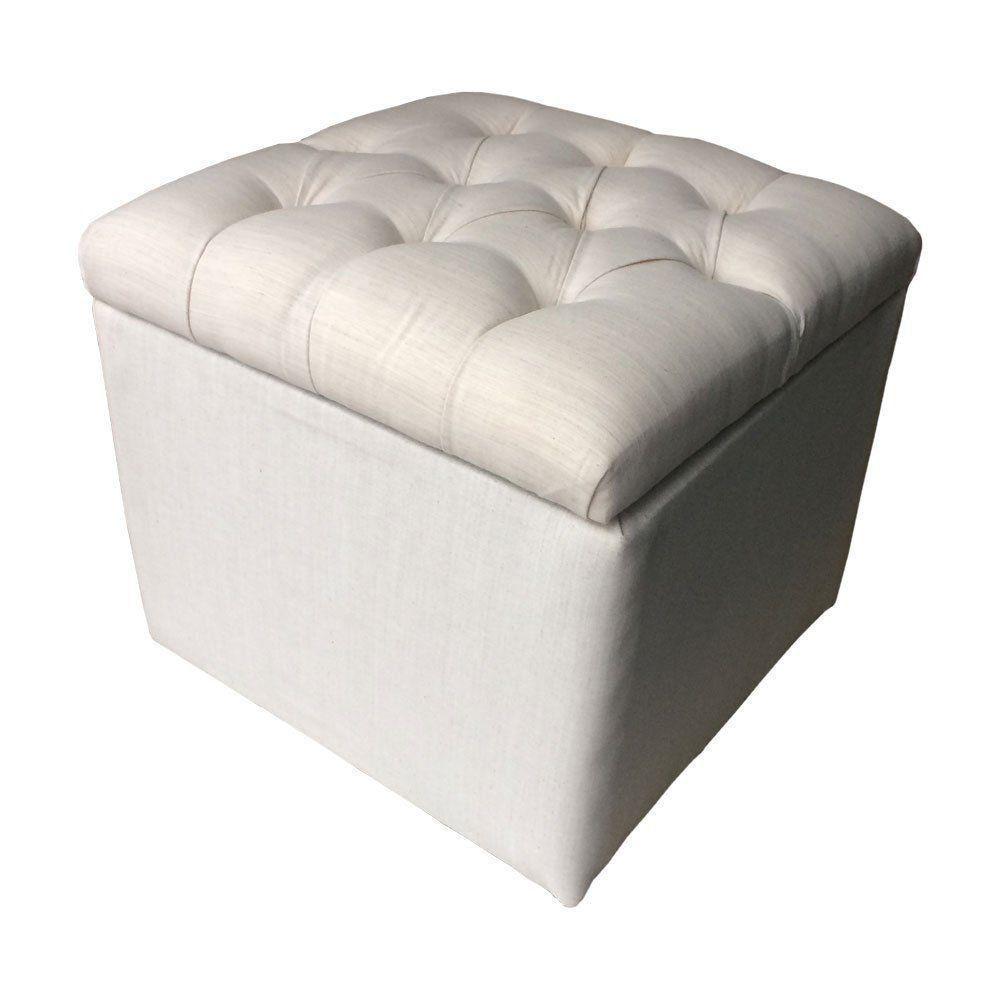 Puff Baú Quadrado - 45x45x45 cm