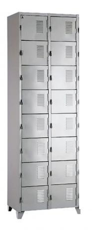 Roupeiro de aço - armário para vestiário - 16 portas  - 02 corpos - (peça de Mostruário )