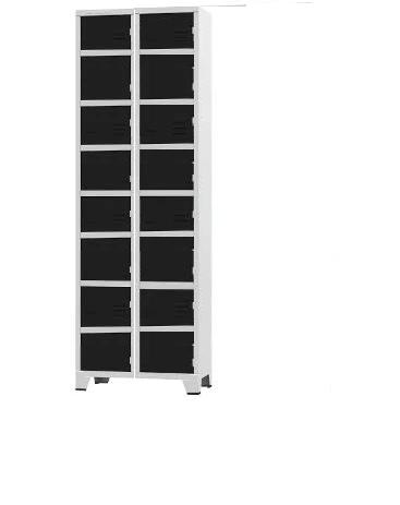 Roupeiro de aço - armário para vestiário - 18 portas  - 02 corpos - (pronta entrega)