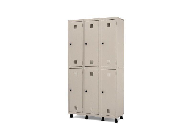 Roupeiro de aço - armário para vestiário - 6 a 15 portas - 03 corpos - Pandin