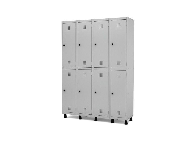 Roupeiro de aço - armário para vestiário - 8 a 20 portas - 04 corpos - Pandin