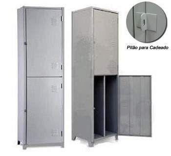 Roupeiro de aço | vestiário insalubre 2 a 4 portas - 3 divisões