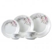 Aparelho de Jantar e Chá Schmidt Eterna em Porcelana 05789 - 30 Peças