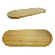 Bandeja Petisqueira Oval de Bambu 40x14cm Petiscos - Agudos Comércio