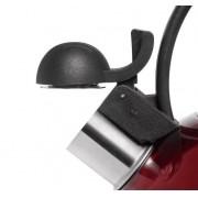 Chaleira em Aço Inox Vermelha 2 Litros Mimo Style - AJ19227