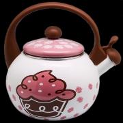 Chaleira Inox Cupcake Decorecasa Com Detalhes Na Pintura - 10008