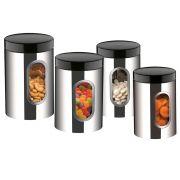 Conjunto de Potes Brinox Suprema em Aço Inox 2109/100 - 4 Peças