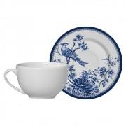 Conjunto Xícara de Chá c/ Pires Alleanza Chinese Garden 1091-104 - 2 Peças