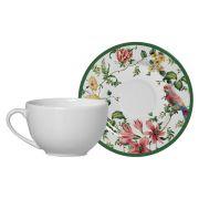 Conjunto Xícara de Chá c/ Pires Alleanza Harmony 1092-104 - 2 Peças