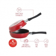 Omeleteira Brinox 14X7Cm 0,4L Garlic Vermelha