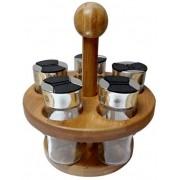 Porta Condimentos c/ Suporte em Bambu Dynasty 20431